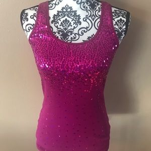 Racer back Sparkly Tank Top